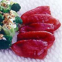 赤ピーマンのオリーブオイルサラダ