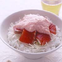サーモンの明太ソース丼