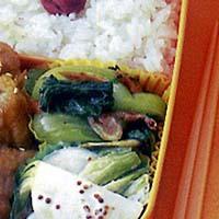 青梗菜の桜えび炒め