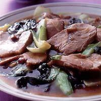 焼き豚と青梗菜のしょうゆ煮