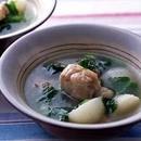 かぶと鶏肉のスープ