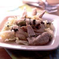 鶏手羽先とキャベツの香り煮