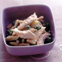 蒸し鶏の明太マヨネーズサラダ