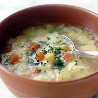チーズ風味のかきたまスープ