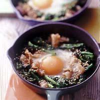 豚肉と菜の花の卵とじ