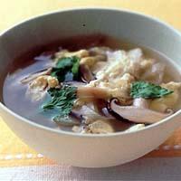 豆腐とザーサイの酸辣湯風