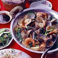 魚介と春雨のピリ辛煮