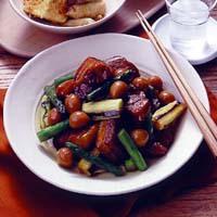 カレー風味の豚の角煮