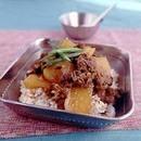 牛肉と大根の韓国風ご飯