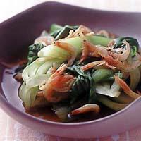 青梗菜と桜えびのさっと煮