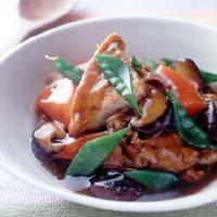 厚揚げと豚肉のカレー風味煮