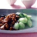 青梗菜の中華風鶏あんかけ