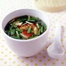 にらとうなぎのとろみスープ