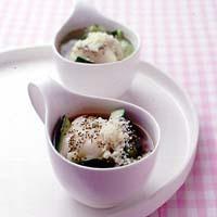 きゅうりとお餅のスパイシースープ