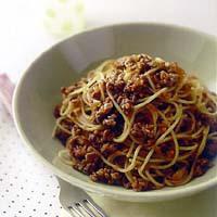 ドライカレースパゲティ