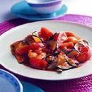 トマトとズッキーニのえびチリ炒め
