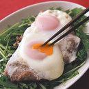 落とし卵のハンバーグ