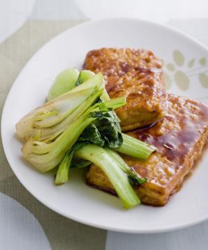豆腐の照り焼きステーキ