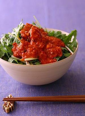 青菜の韓流あさりみそ丼