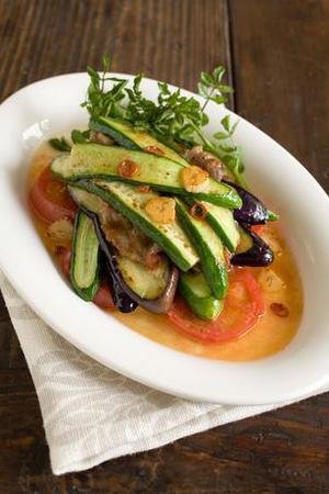 夏野菜と豚肉のグリル