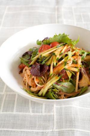 きゅうりとたこの韓国風からめ麺