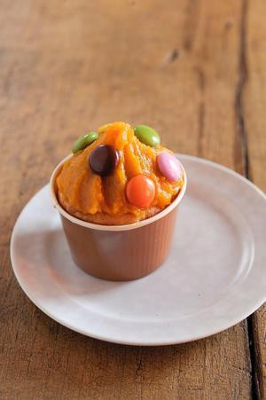 かぼちゃチョコカップパン