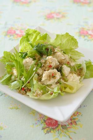 じゃこと豆腐のボリュームサラダ