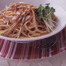ごぼうのクリームスパゲティ