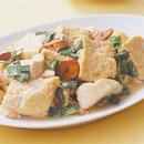 豆腐とにらのオイスターソース炒め
