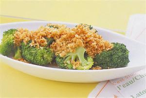 ブロッコリーのカリカリパン粉サラダ