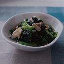 小松菜と鶏肉の煮びたし