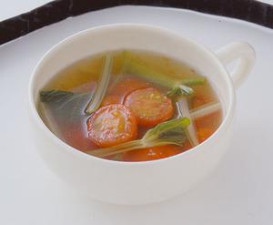 プチトマトとセロリのスープ