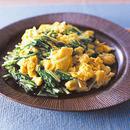 水菜のふんわり卵炒め