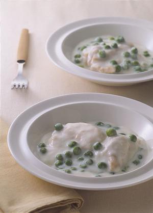 鶏肉とグリーンピースのクリーム煮