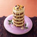 バナナとナッツのキャンドルケーキ