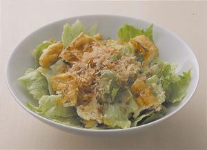 レタスと油揚げの和風サラダ