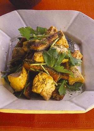 うなぎと豆腐の山椒炒め