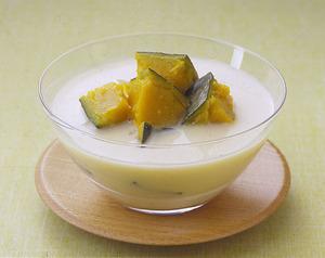 かぼちゃの冷製豆乳スープ