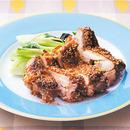 鶏肉のごま風味焼き