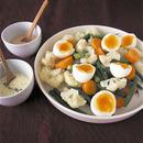 温野菜とゆで卵のサラダ
