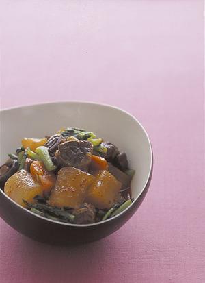大根と牛肉の韓国風煮もの