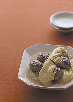 白菜と肉だんごのみそ煮