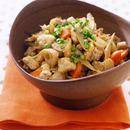 野菜たっぷりいり豆腐