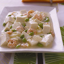 豆腐と枝豆のえびあん