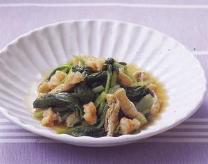 小松菜と油揚げの和風煮