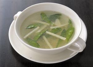 たけのこときぬさやの中華スープ