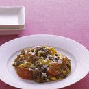 牛肉とトマトの中華風卵炒め