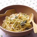えびと水菜のペペロンチーノ