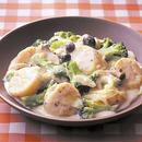 ブロッコリーと帆立てのクリーム煮