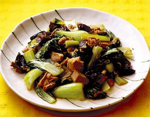 青梗菜とツナの和風炒め